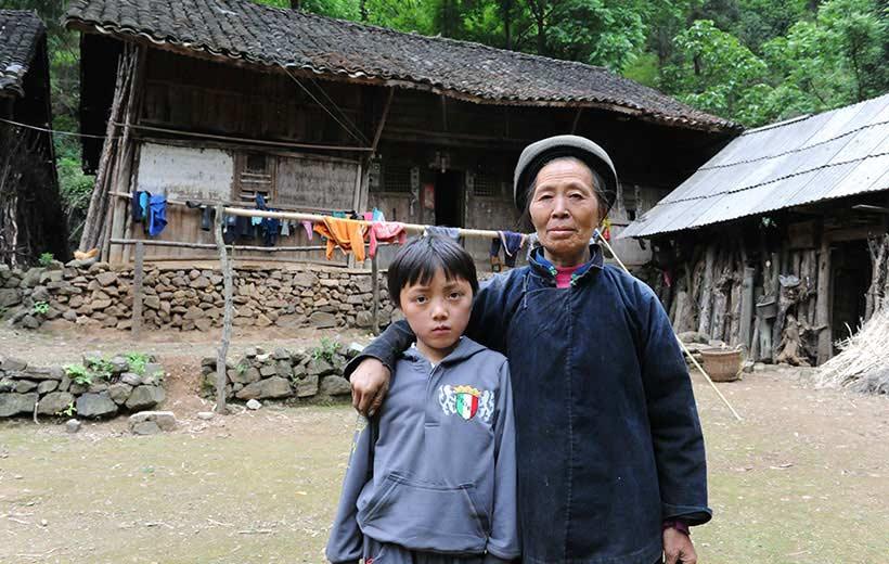 left-behind kids with grandma