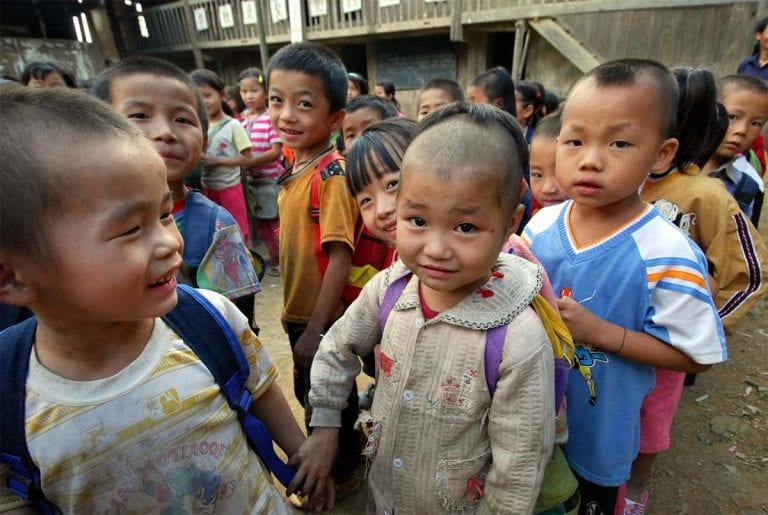 Kids out of new school built by Nathan Yip Foundation
